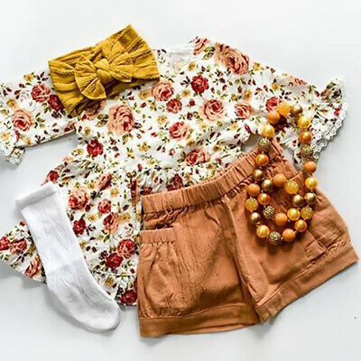Toddler Kids Baby Girls Outfits Clothes T-shirt Tops+Dress/Shorts/Skirt 2PCS Set