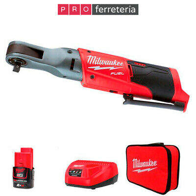 Milwaukee M12 FIR38-201B FUEL-llave de carraca a batería sub compacta