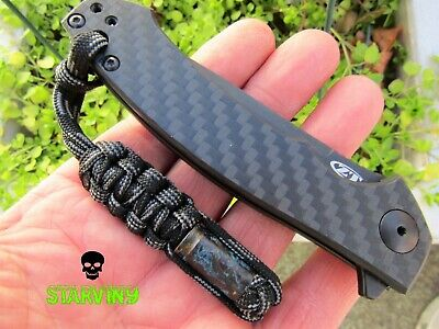 Paracord knife lanyard-9mm/patina- fits Zero tolerance, CRKT , Kizer & Spyderco