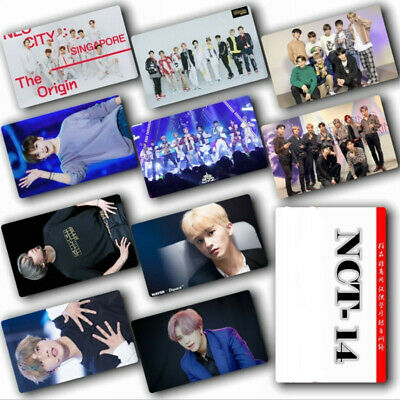 KPOP NCT Concert Albums Photo Card Stickers Sticky Crystal Photo Card 10pcs/Set