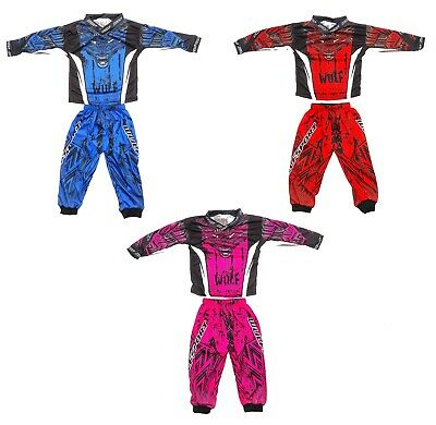 Wulfsport 2019 Aztec Toddler Motocross 2 Piece Kids Race Suit Up To 2-3 Years