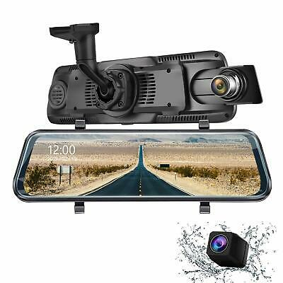 Eyesun Cam 9.66 Inch Mirror Dash Cam, Full Touch Screen 170 Degrees 1080P Front