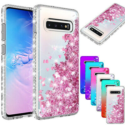 Shockproof Bling Clear Glitter Rubber Case For Samsung Galaxy S9/S10 Plus Note 9