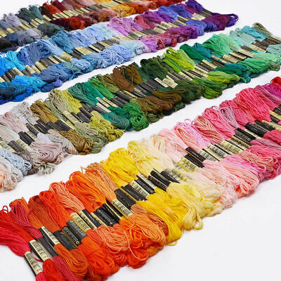 100Color Cotton SKEINS EMBROIDERY THREAD Cross Stitch Braiding Sewing 8M6 Strand