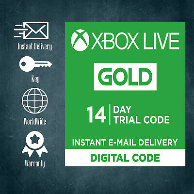 Xbox Live 14 Days 2 Weeks Trial Gold Code 14 Day - Instant Delivery