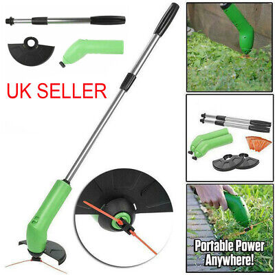 CORDLESS WEED TRIMMER Grass Zip Trim Cutter Garden Edger Lawn Strimmer Hedge UK