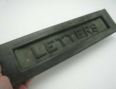 Very Large Antique Letter Box Plate / Door Mailbox / Mail Slot / Huge 15.25""