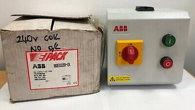 NO OVERLOAD* New ABB Metal Clad DOL Starter Isolator 7.5kW 230/240v COIL