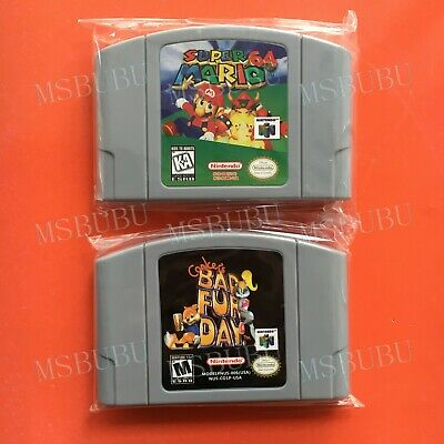 Two Games Super Mario 64 & Conker's Bad Fur Day - For Nintendo 64 Video N64 Card