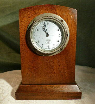 Smiths & Sons Motor Accessories M9 Car Clock 8 Day and Handmade Oak Mantel Case