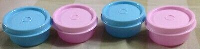 Tupperware Smidgets Set of 4 In Opaque Blue and Pink Colors-New-@30 ml each