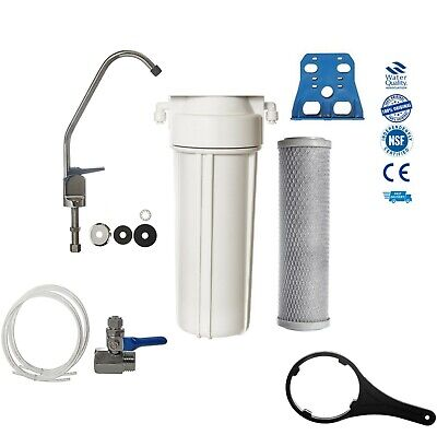 Single Under-Sink Drinking Water Filter System Tap  Kit Faucet + Accessories