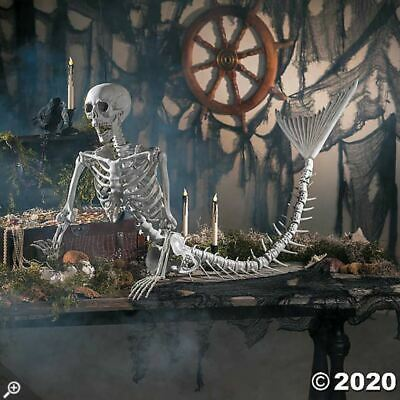 "Halloween Props Decorations Scary Mermaid Skeleton 14 1/2"" x 73"" , Outdoor/Yard"