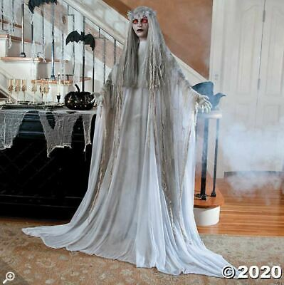Halloween Props Decorations Life Size Animated Scary Ghostly Bride, Outdoor/Yard