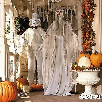 Halloween Props Decorations Life Size Animated Scary Ghostly Couple Outdoor/Yard