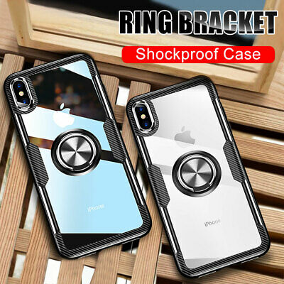 Shockproof Armor Case for iPhone X XS Max/6 7 8 Plus Hybrid Magnetic Stand Cover