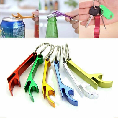 10x Bottle Opener Key Ring Chain Keychain Metal Beer Bar Tools Claw Trend #ay