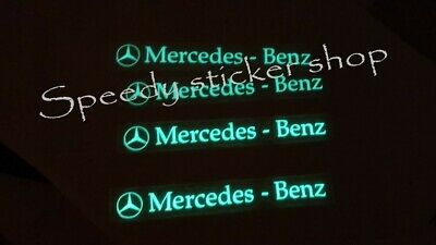mercedes benz stickers glow in dark decals alloy stickers glow in dark vinyl x4