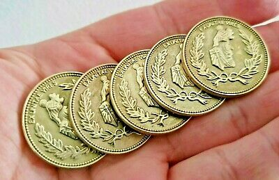 5 x Replica Movie John Wick Baba Yega Boogeyman Cosplay Used Assassin Coins (l6)