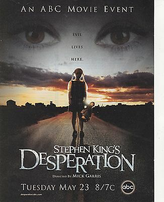 Vintage 2006 Stephen King's desperation TV Movie print ad Great to frame!