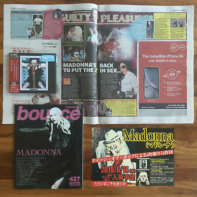 """JAPAN BANNER + BOUNCE MAG+ PAPER CLIPPING+ DELUXE 2x SHM-CD """"MADAME X""""! MADONNA"""
