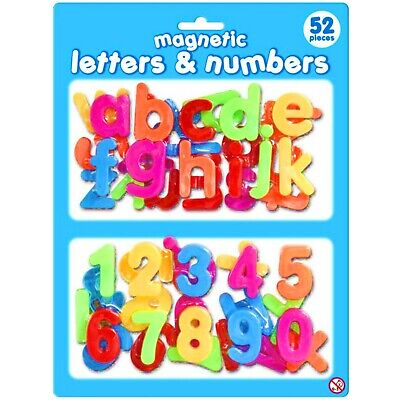 Set of 52 Magnetic Letters and Numbers - Alphabet Fridge Magnets Children's Gift