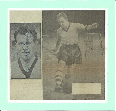 Football Autograph Norman Deeley Wolves FC Signed Newspaper Photograph F1278