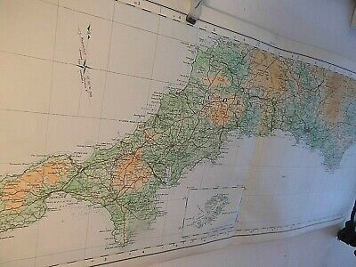 Dorset,Hants, Isle Of Wight: Rare Elongated Ordnance Map 1922-Topographic Colour