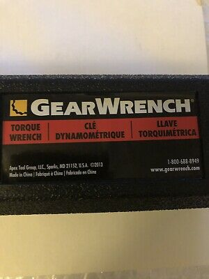 Gearwrench 3/8 Drive Micrometer Torque Wrench Majsterkowanie 10-100 ft-lbs 85062