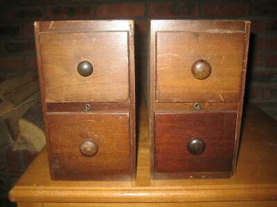 Singer Treadle Sewing Machine Drawers Two 2 Drawer Sets 1925    (A)