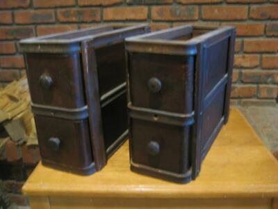 Singer Treadle Sewing Machine Drawers Two 2 Drawer Sets 1925    (D)
