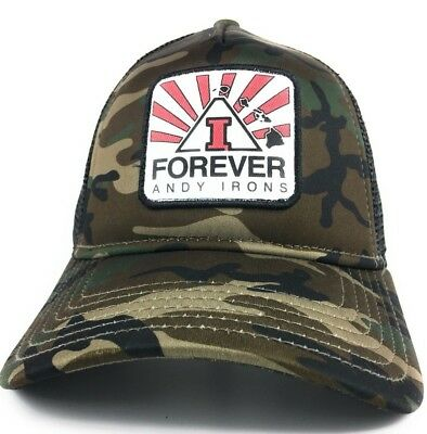 super popular 2e48d 6b8c8 Forever Andy Irons Snapback Hat Cap Camouflage Trucker Black Mesh New Era  9Forty