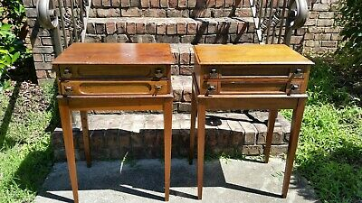 Antique J&P Coats 2 drawer set of two spool cabinets RARE