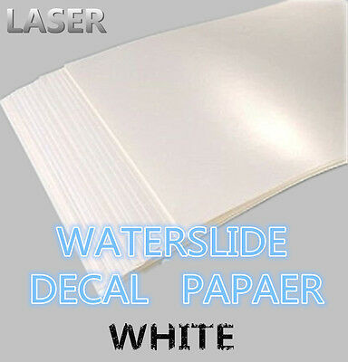 SZ03-LB A4 Laser Printer Water Slide Decal Paper 10 Sheets White