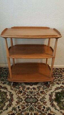 Ercol Vintage Elm And Beech Windsor Trolley In Light Finish. Good condition.