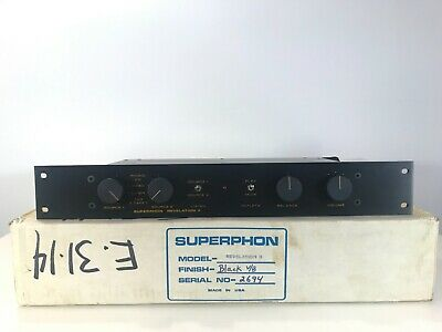 *RARE* Superphon Revelation II Preamplifier IN BOX  phono/cd/tape/aux/tape/tuner