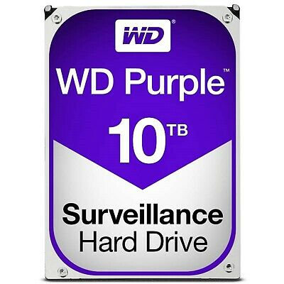 "Western Digital WD101PURZ 10TB Purple 3.5"" SATA3 Surveillance Hard Drive 256MB"