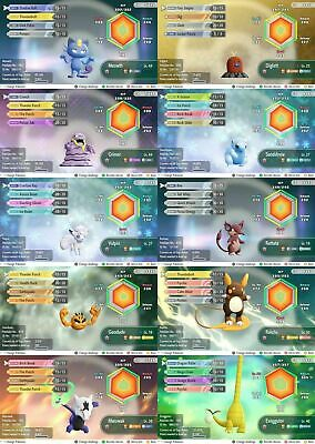 Pokemon Let's Go Pikachu & Eevee ALL 10 6iv SHINY alolan pokemon !
