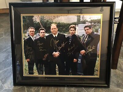 """The Sopranos Cast Signed 19x15"""" Picture Framed With COA And Photo Proof"""