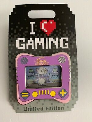 Disney Pin of the Month I Heart Gaming Beauty And The Beast LE 1500