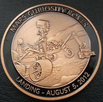 NASA MARS CURIOSITY ROVER LANDING August 5,2012 MARS EXPEDITION Commemorative Co