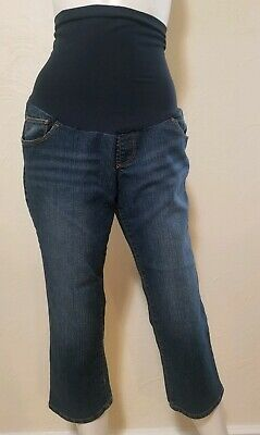 Motherhood Maternity Womens Size Medium Medium Wash Jean Capri
