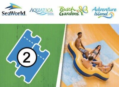 SEAWORLD ORLANDO 2 Two Park Ticket + BOTH DAYS PROMO + ALL DAY DINING DEAL!!!