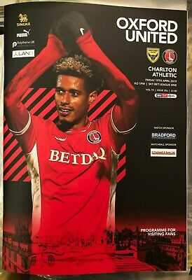 Oxford United v Charlton Athletic - Home 'Away' Programme - League 1- 19/04/2019