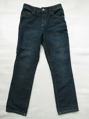 New George Boys Dark Navy Blue Regular Slim Fit Denim Jeans Age 11 Yrs Zip 146cm