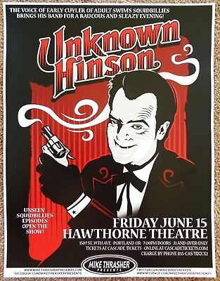 UNKNOWN HINSON 2012 Gig POSTER Portland Oregon Concert Early Cuyler Adult Swim