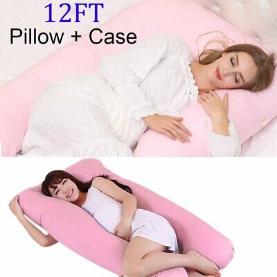9ft Giant U Shaped Pillow and//or Case Pregnancy Maternity Bed Body Back Support