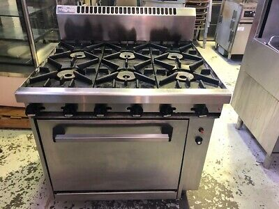 Gas Waldolf 6 Burner Stove With Oven Catering Equipment