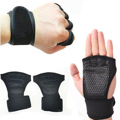 Fitness Gloves Weight Lifting Gym Sport Workout Training Wrist Wrap