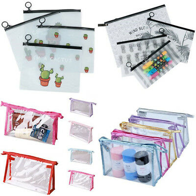 20e664c4aea3 PLASTIC ZIPPERED PENCIL pouch for three ring binder - $2.99 | PicClick